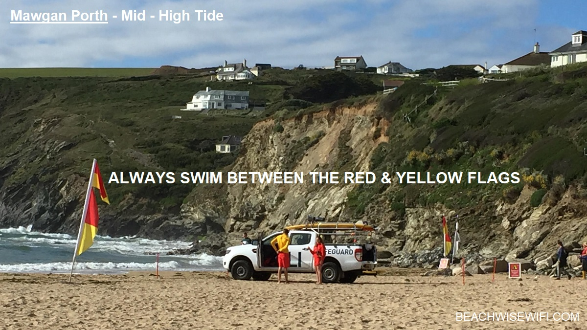 Mawgan-Porth-Mid-HighTide-North-Side-Always-swim-between-the-red-yellow-flags