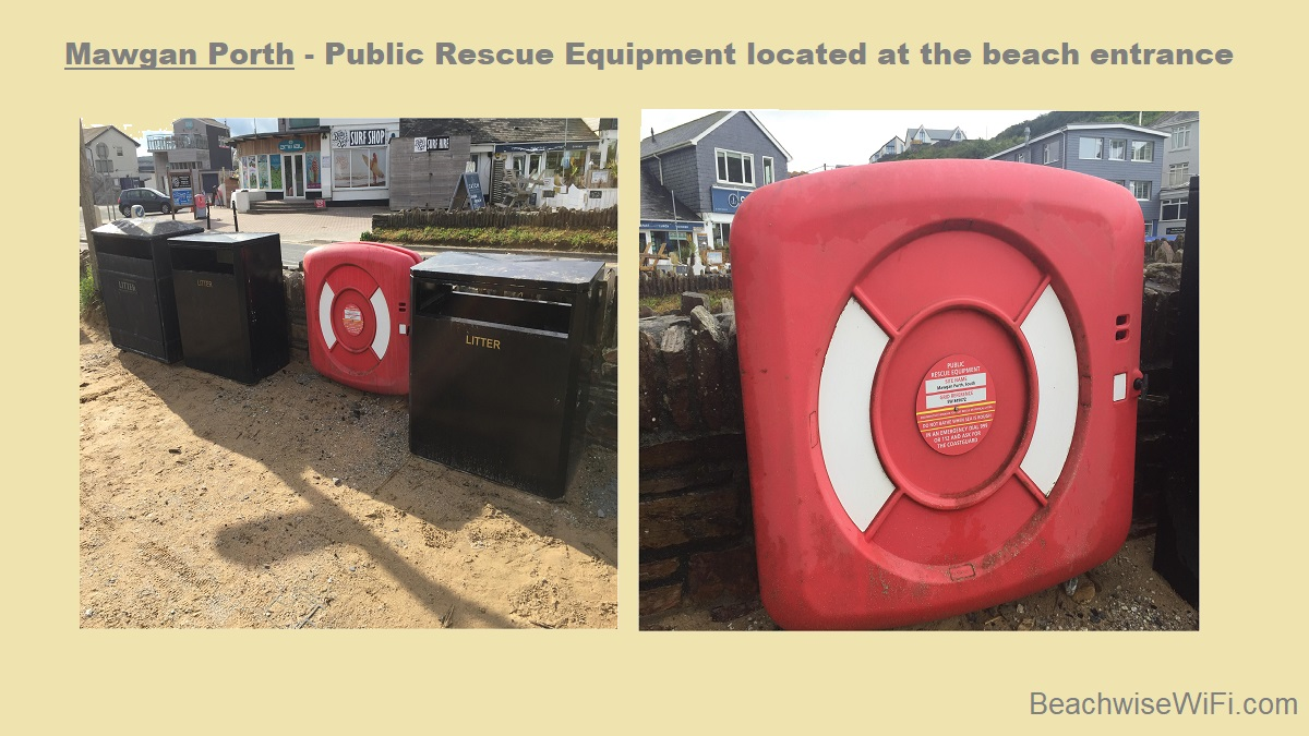 Mawgan-Porth-Public-Rescue-Equipment-located-by-the-beach-entrance