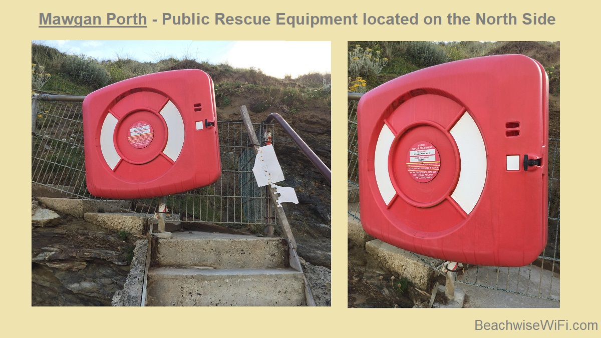 Mawgan-Porth-Public-Rescue-equipment-located-on-the-North-side