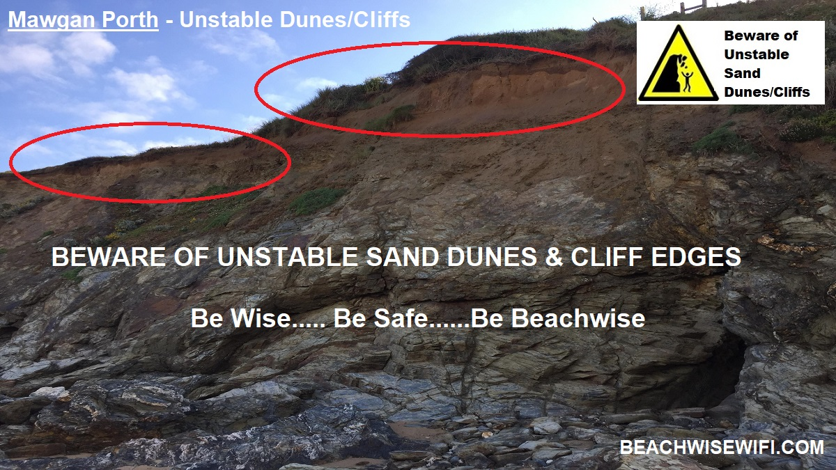 Mawgan-Porth-Unstable-Cliffs-Dunes-Be-Safe-Be-Wise